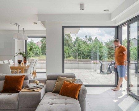 Okna tarasowe do domu jednorodzinnego