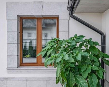 Brązowe okna tarasowe vetrex