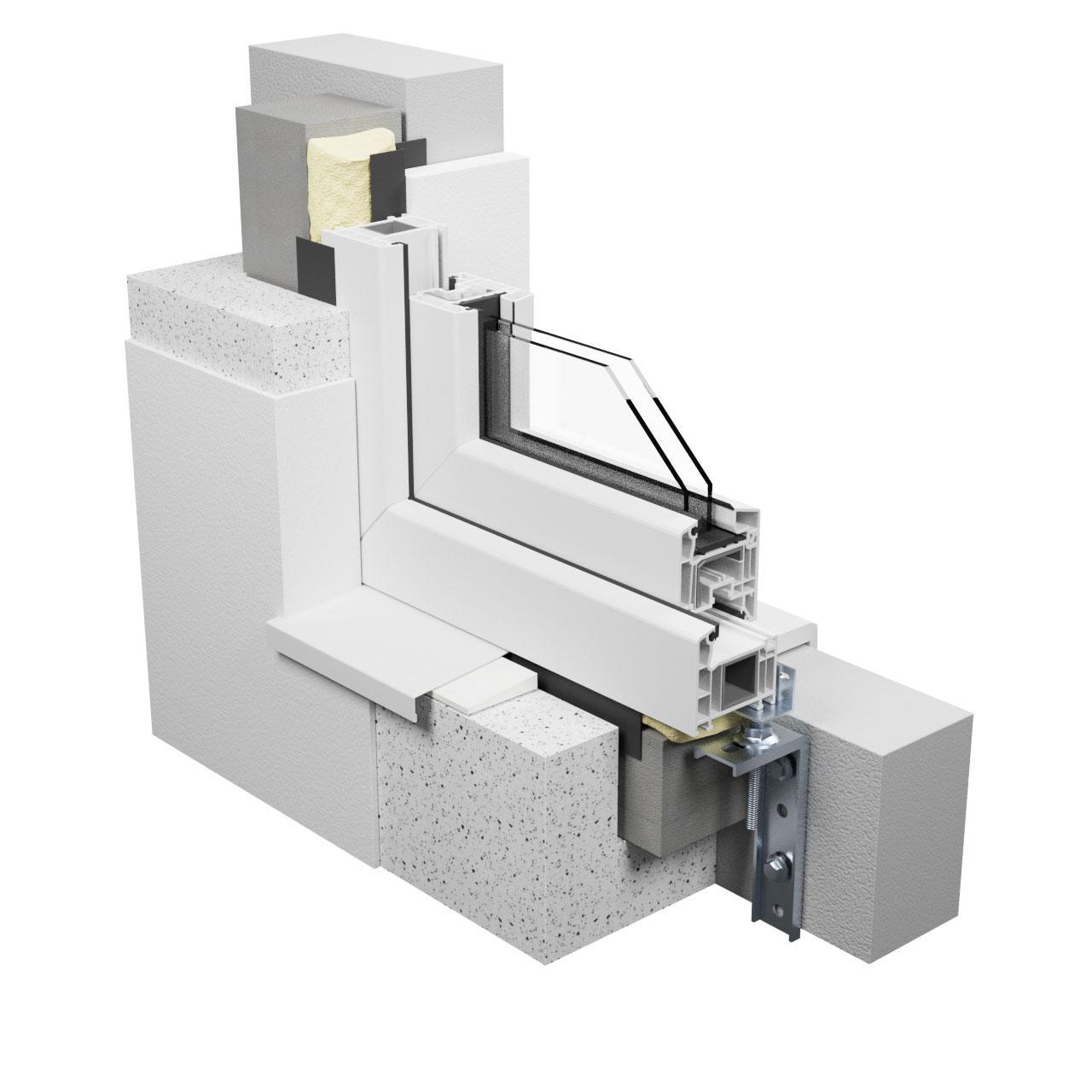 Montaż w izolacji termicznej - konsole vetrex