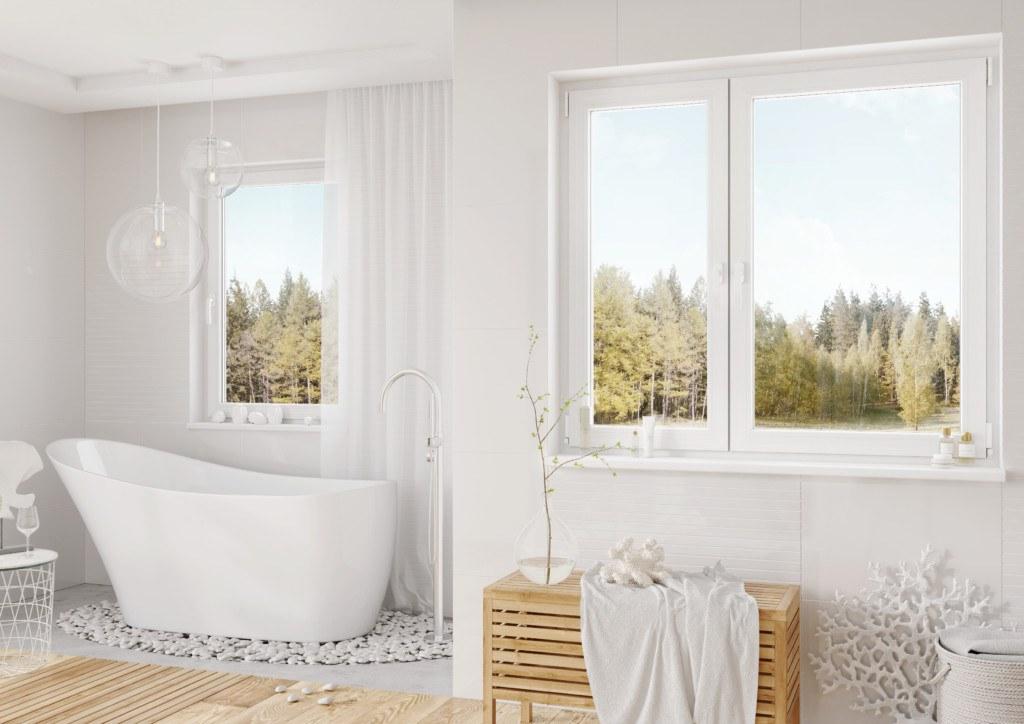Białe okna VP70 vetrex