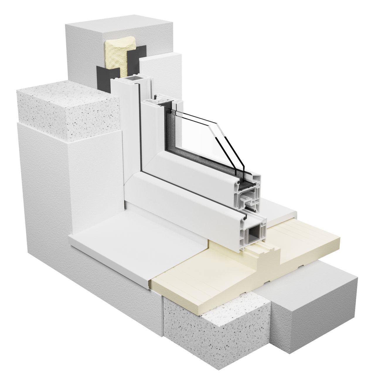 Montaż warstwowy z podkładem podparapetowym vetrex
