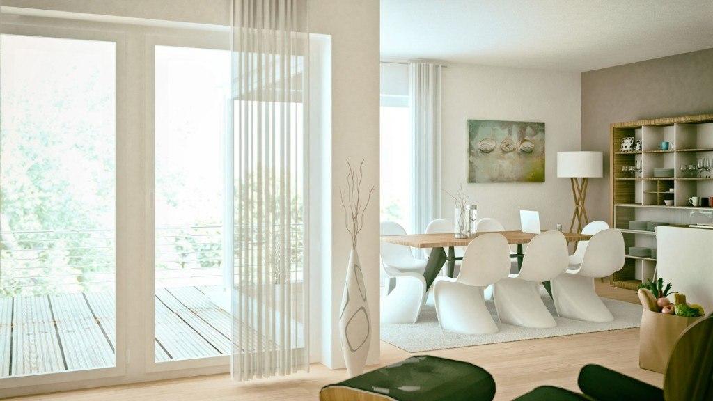 Białe okna tarasowe aranżacja