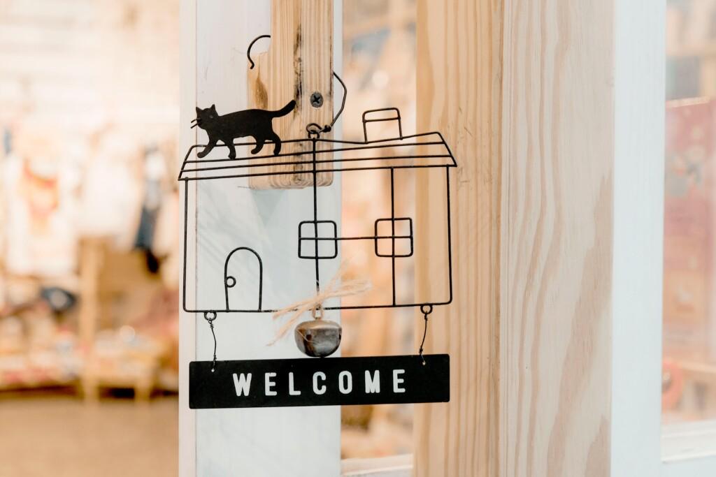 powitalny szyld z napisem welcome